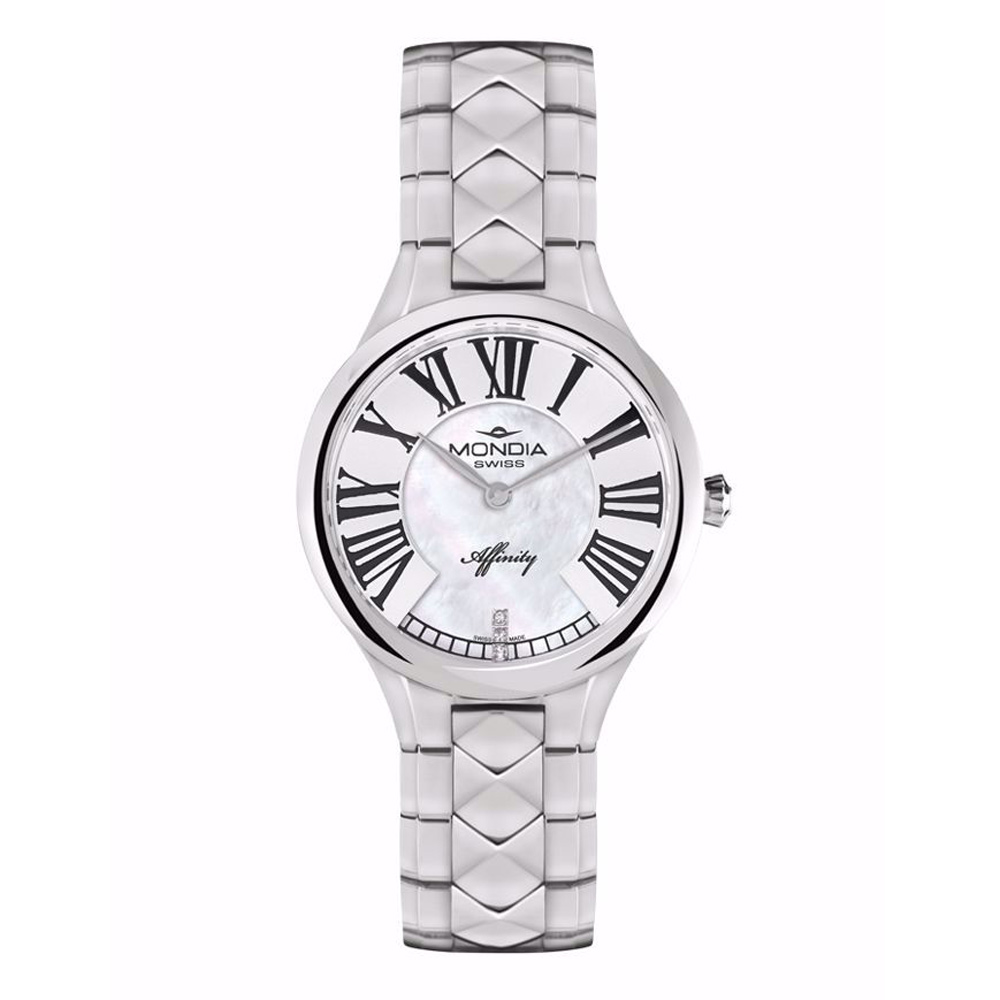 Mondia Swiss Watch Lady Affinity Silver 32mm MS-210-SS-02MWT-CM