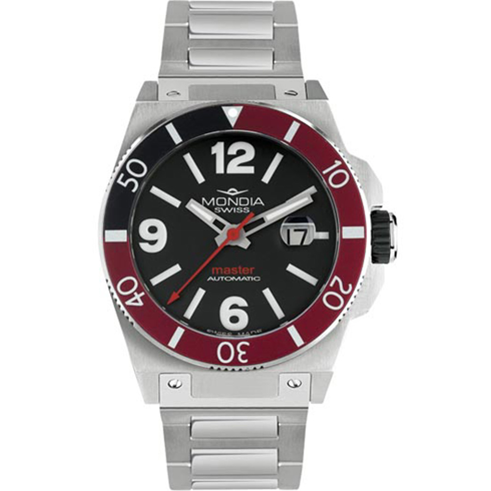 Mondia Swiss Master Automatic MS-200-SS-03BK-CM Watch Red Black