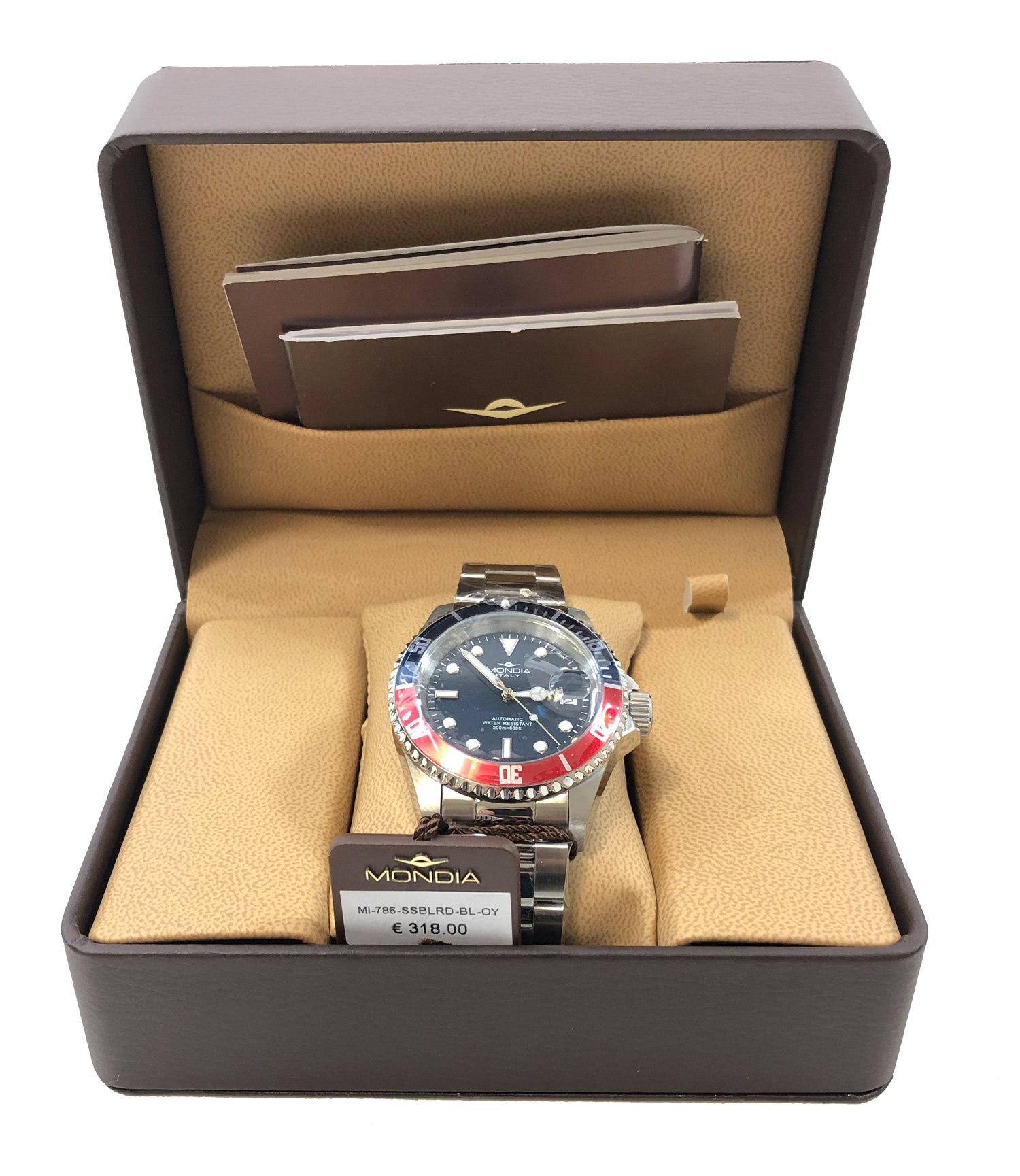 Mondia Italy Watch Gent Madison Urban Automatic Blue&Red 42mm MI-786-SSBLRD-BL-OY