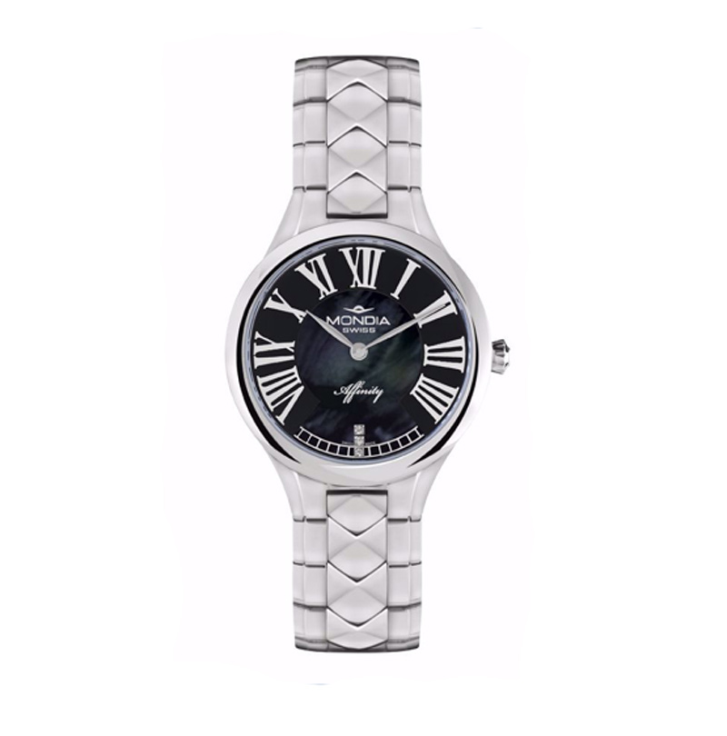 Mondia Lady Swiss Watch Affinity Black 32mm MS-210-SS-03MBK-CM