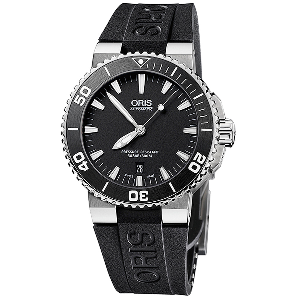 Oris Aquis Date Men's Divers Swiss Watch 43mm 01 733 7653 4154-07