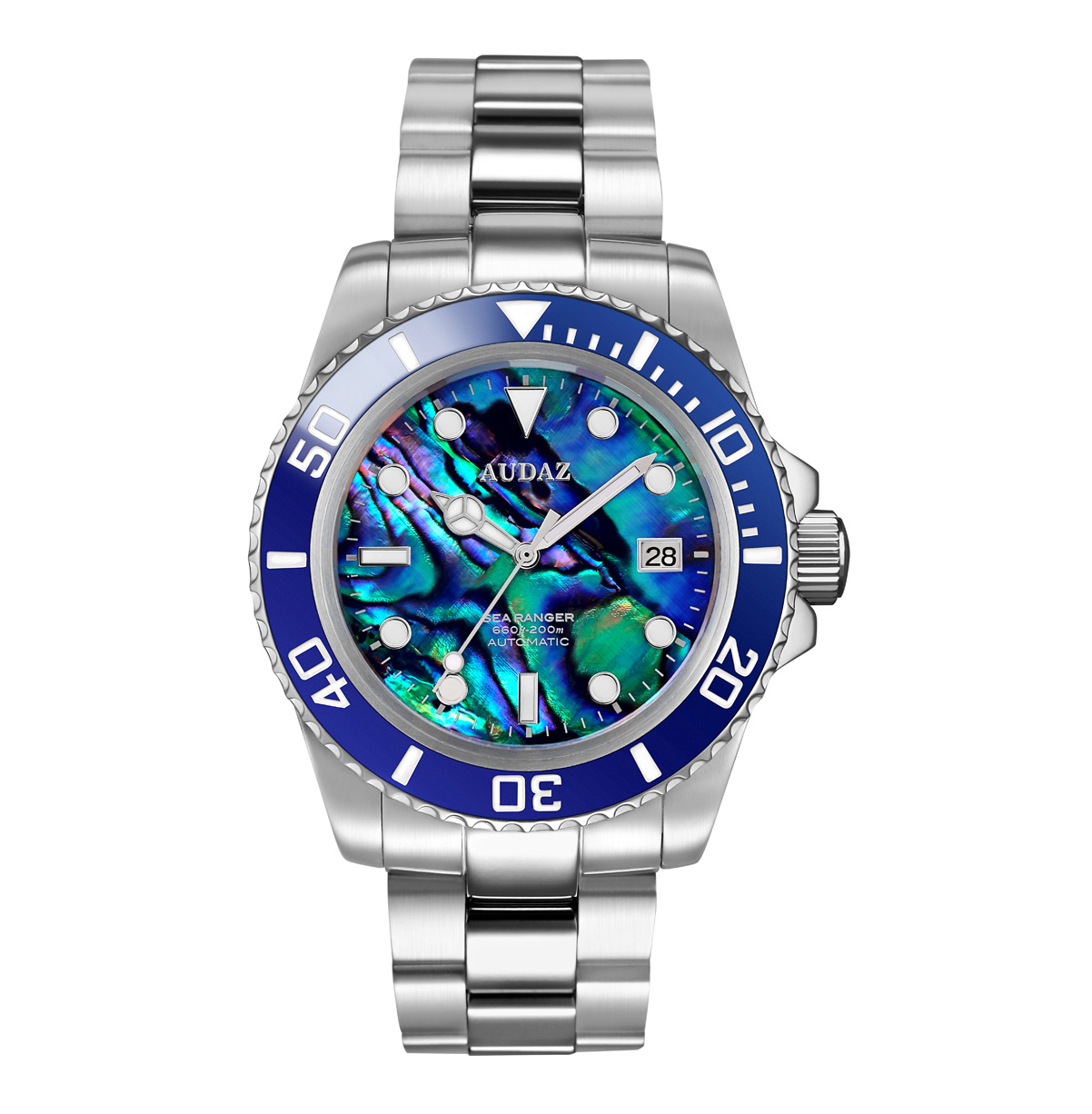 Audaz Sea Ranger Abalone Dial Automatic Men's Diver Watch 42mm ADZ-2050-07