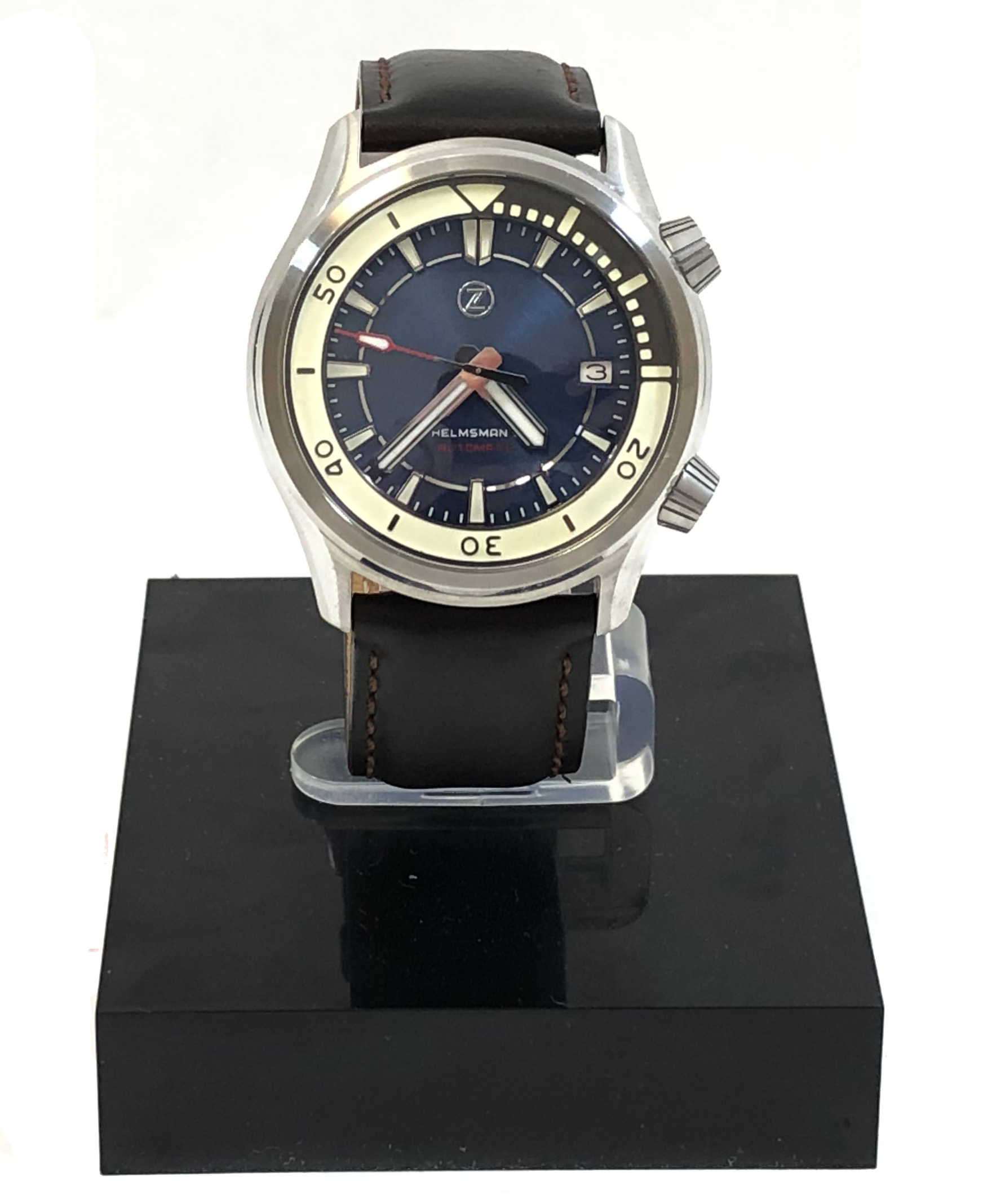 Zelos Helmsman 2 Steel Blue Automatic Divers Watch 42mm