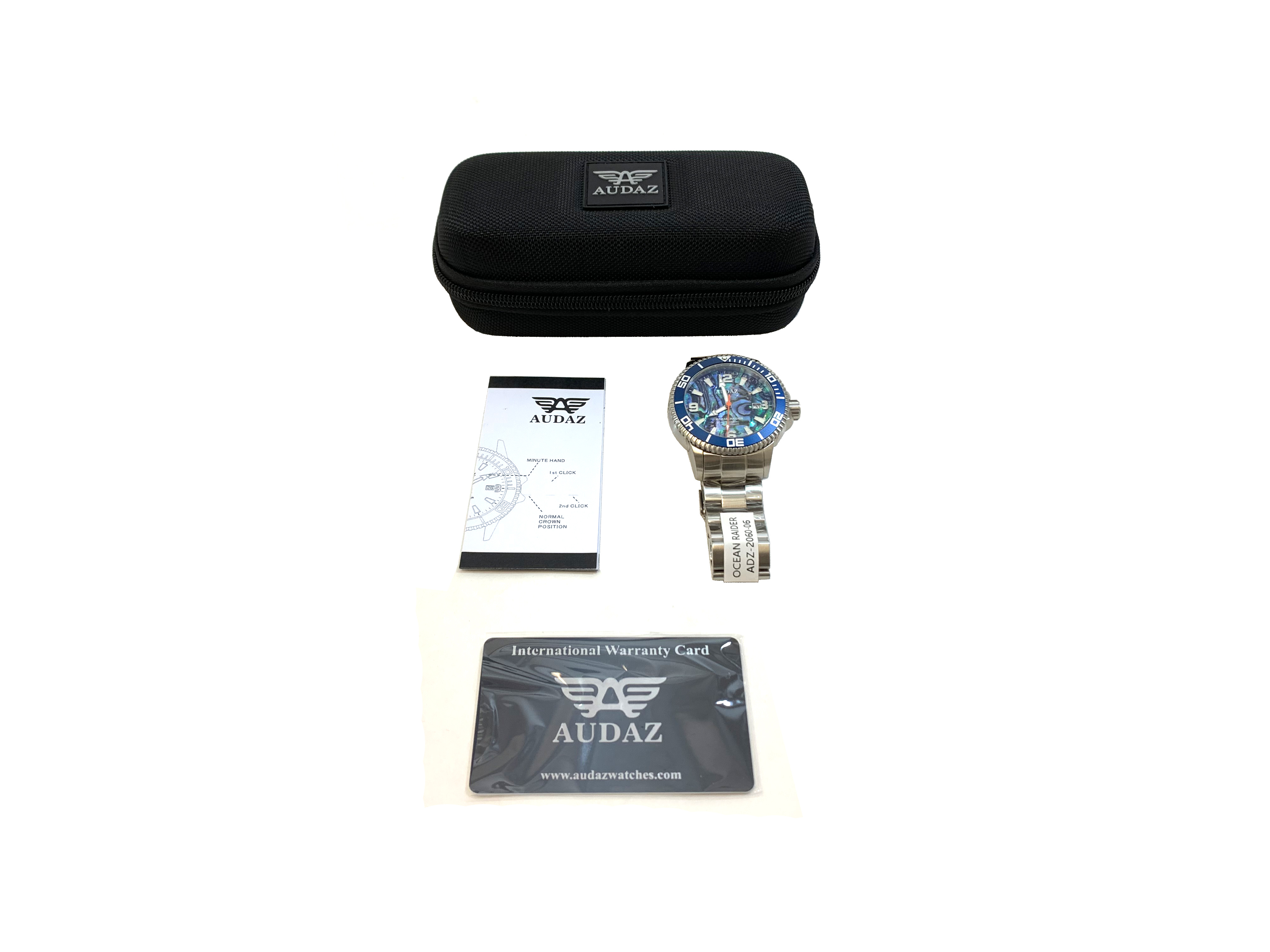 Audaz Ocean Raider Abalone Dial Men's Diver Automatic Watch 45mm ADZ-2060-06