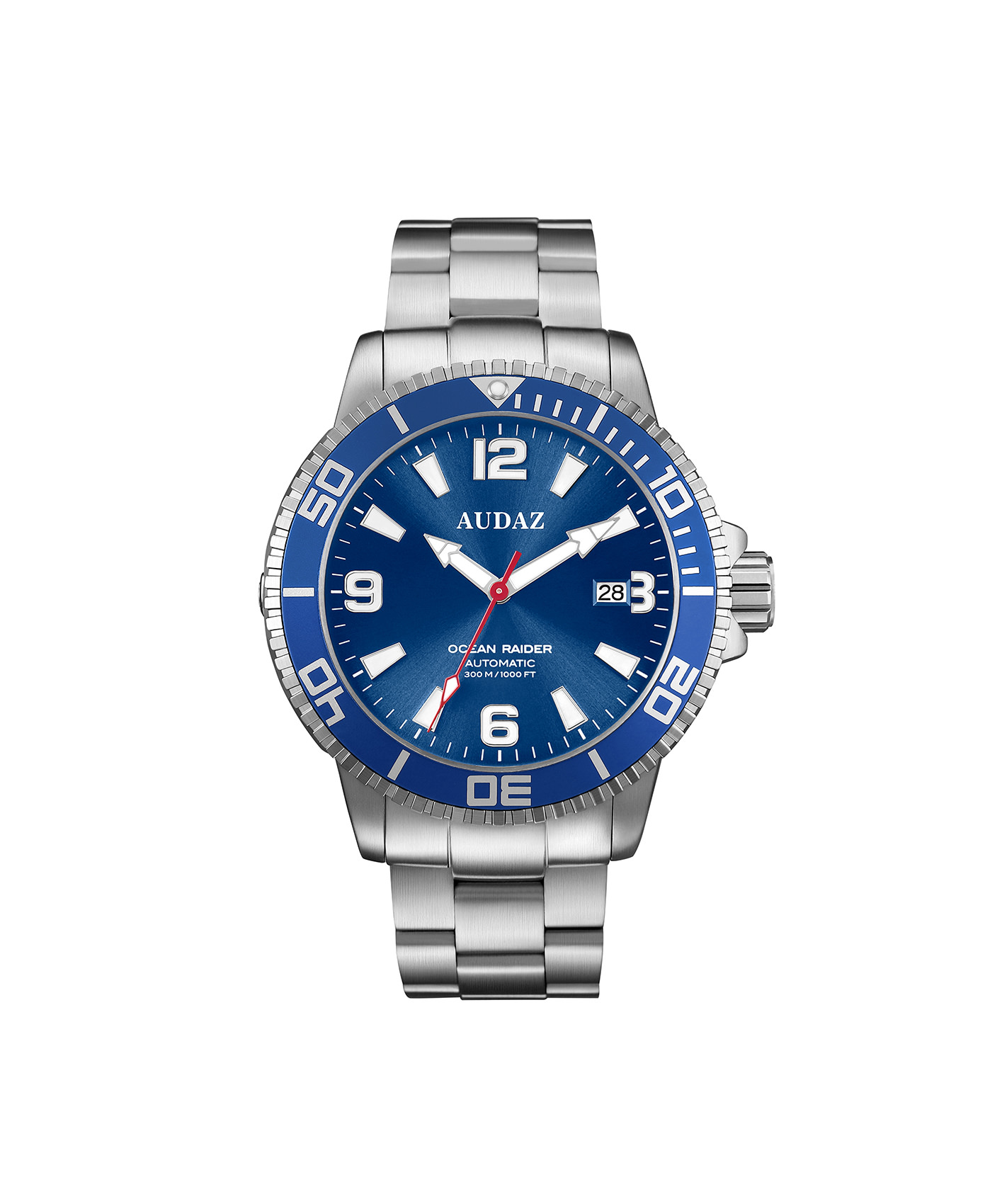 Audaz Ocean Raider Blue Dial Men's Diver Automatic Watch 45mm ADZ-2060-02