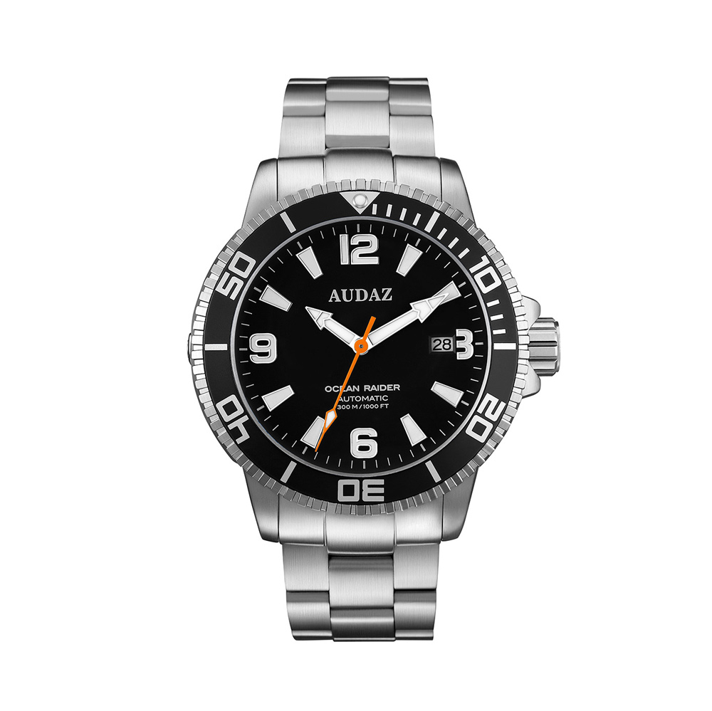 Audaz Ocean Raider Black Dial Men's Diver Automatic Watch 45mm ADZ-2060-01