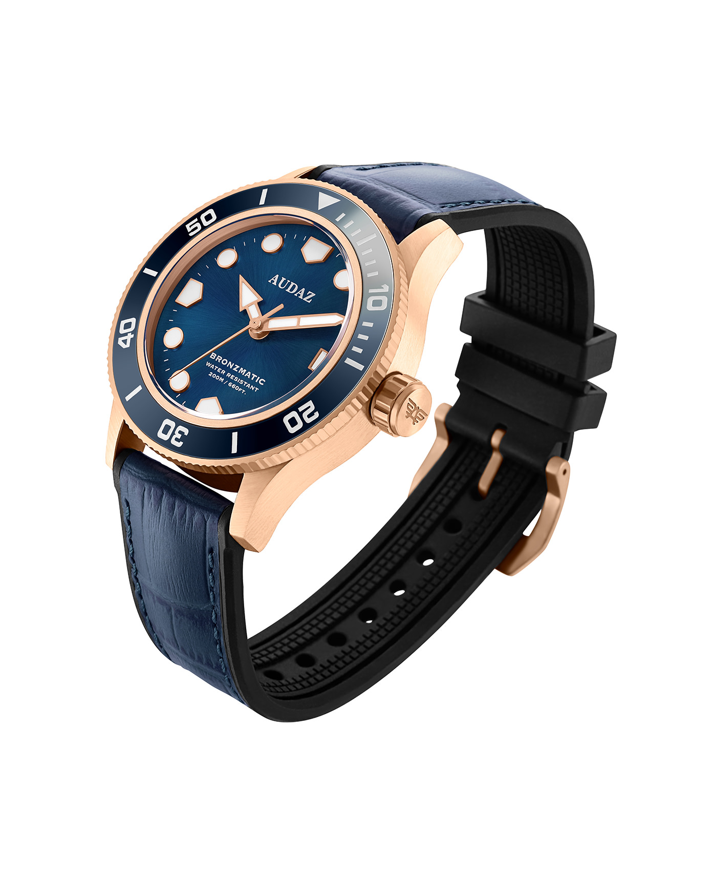 Audaz Bronzmatic Blue Dial Men's Diver Automatic Watch 42mm ADZ-2065-02
