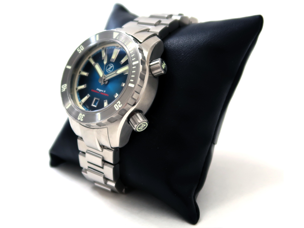 Zelos Abyss 3 3000m Steel Teal Automatic Diver Watch Swiss Sellita SW200