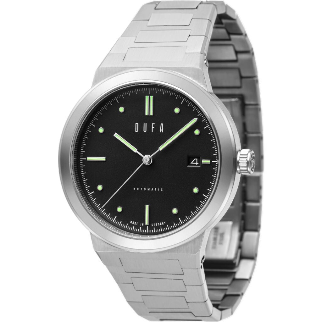 Dufa Gunter Automatic Graphite Black 40mm German Watch DF-9033-22