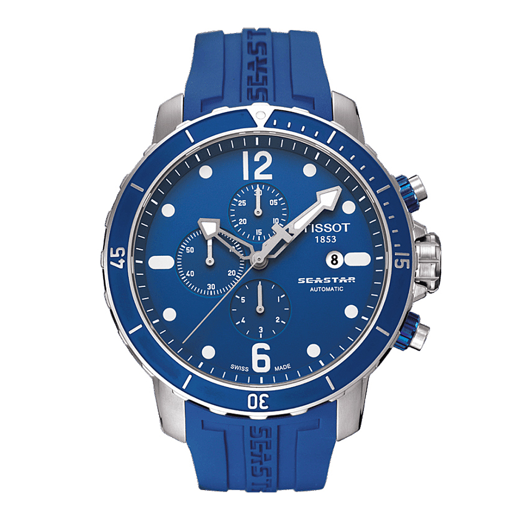 Tissot Seastar T066427A Automatic Chronograph Diver Blue Men's Watch 48mm