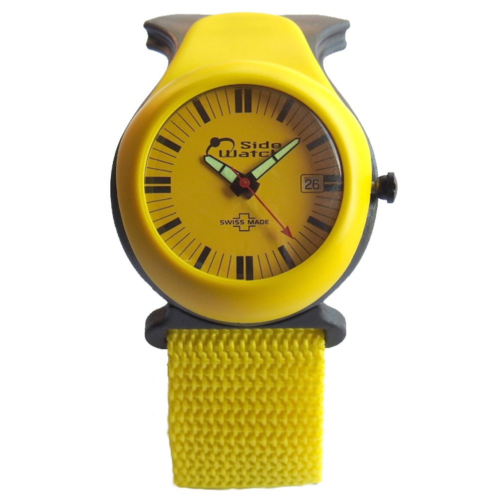 Side Watch by Andre Le Marquand Yellow Carbon Fiber Swiss