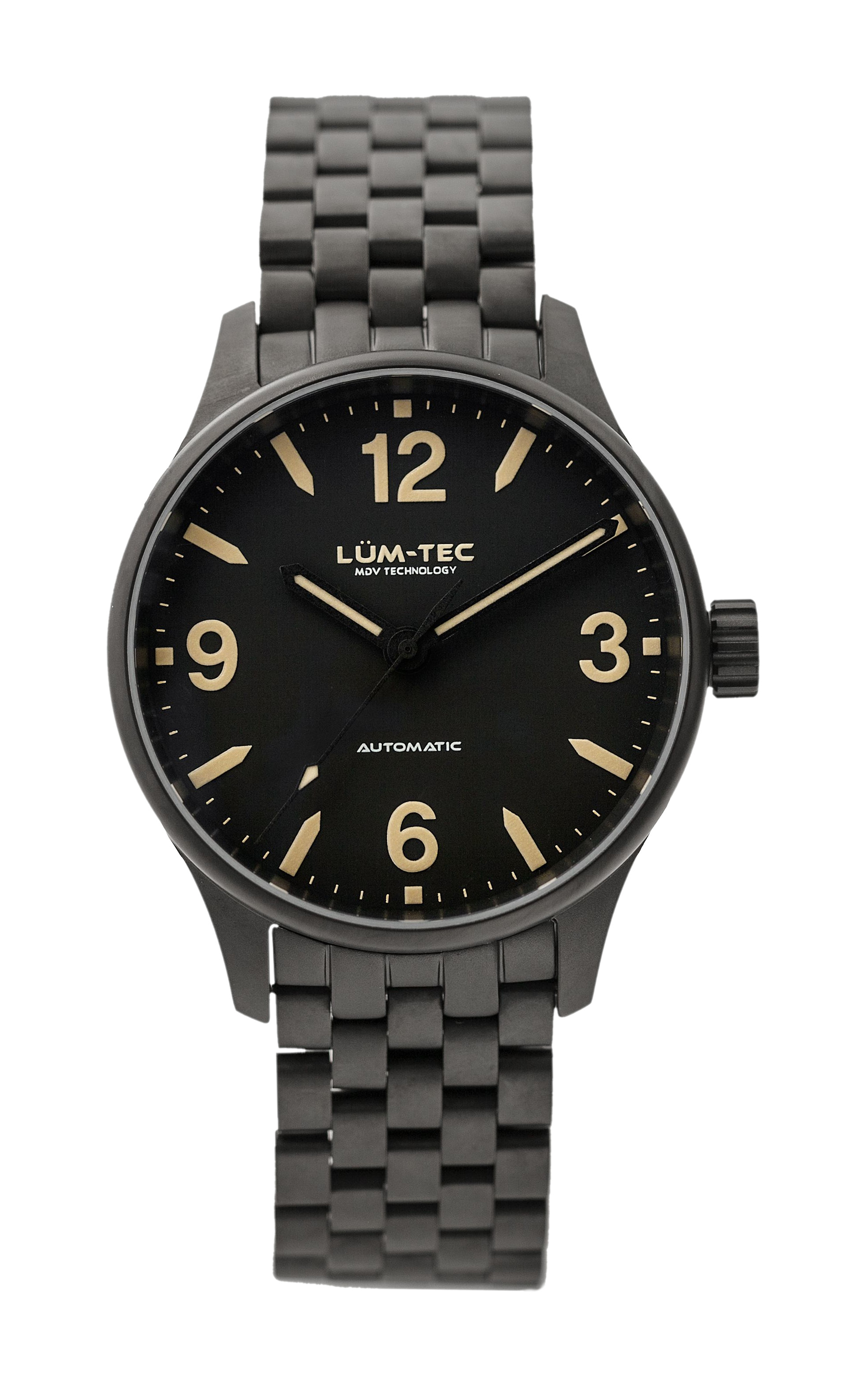 Lum-Tec C7 Automatic 38mm Men Watch Military Charcoal 100m WR