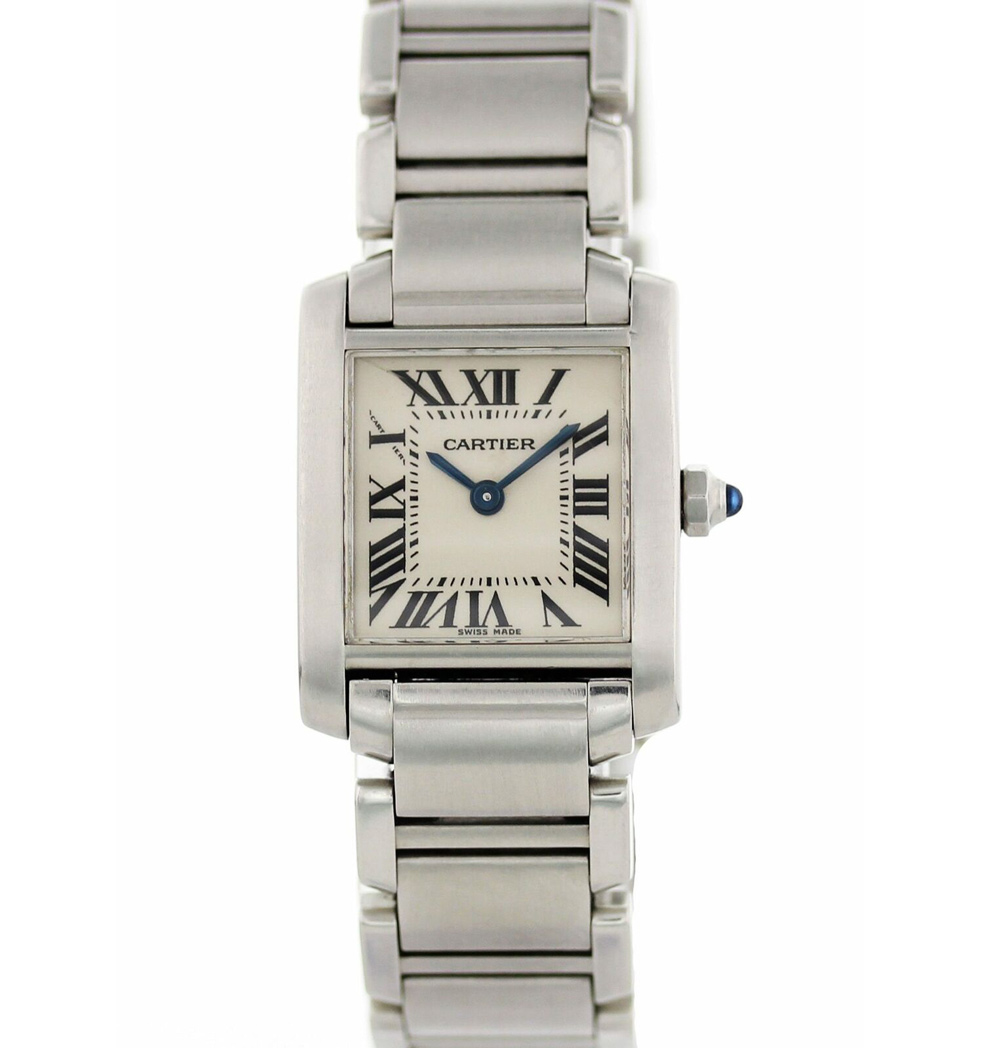 Cartier Tank Francaise 2384 White Dial Ladies Watch