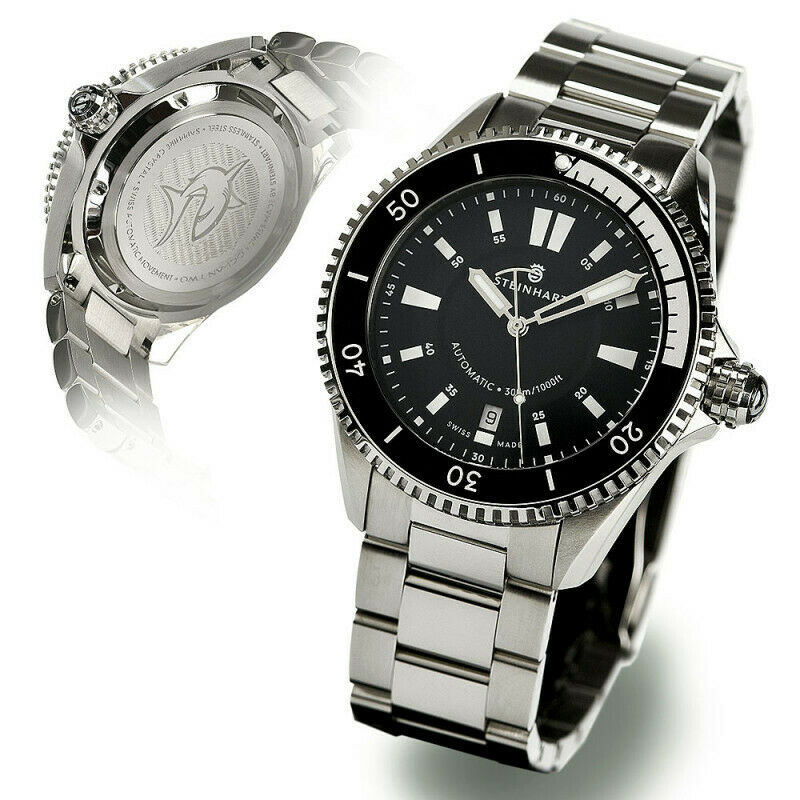 Steinhart Ocean Two 2 Black Automatic 42mm Swiss Diver Watch