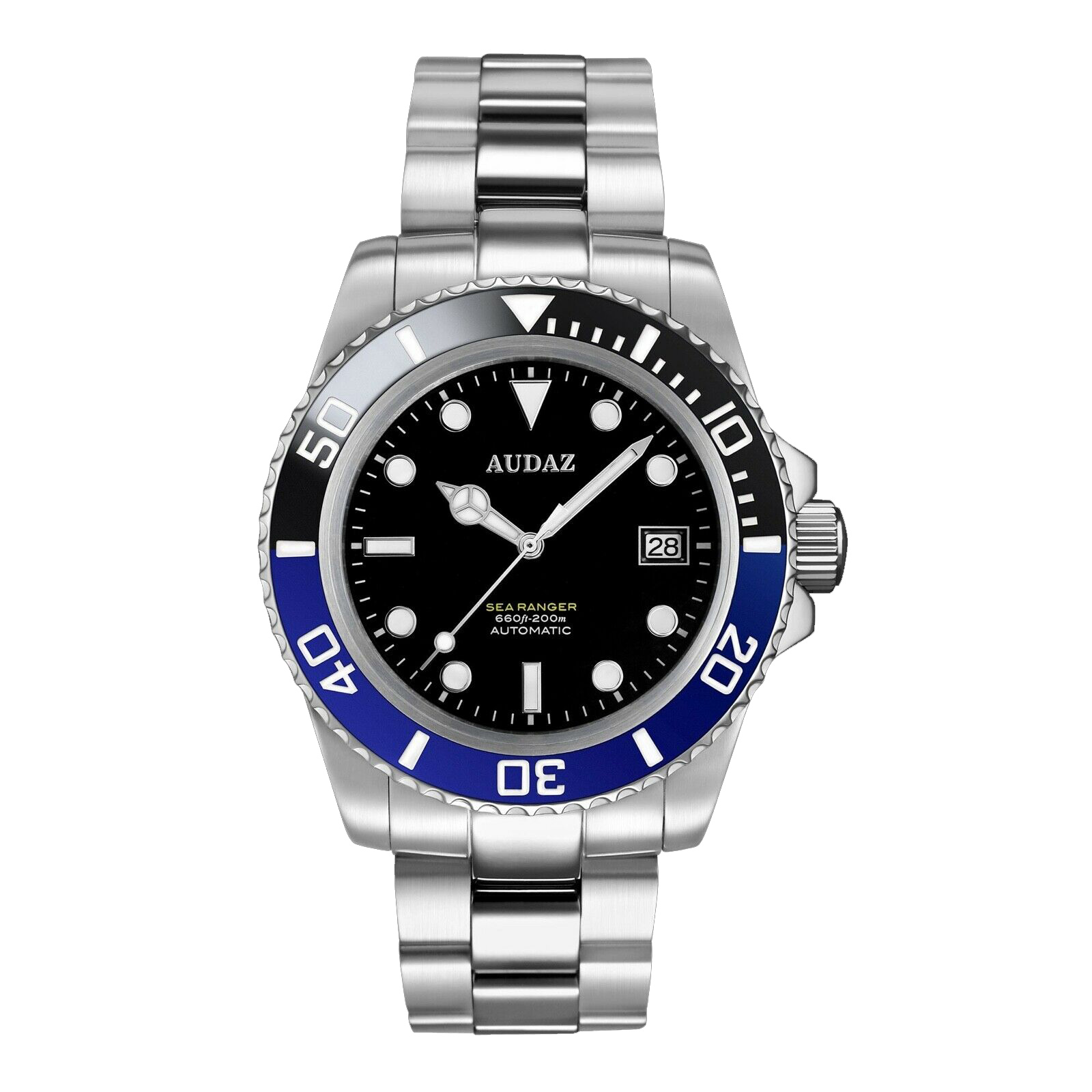Audaz Sea Ranger Black Dial Automatic Men's Diver Watch 42mm ADZ-2050-03
