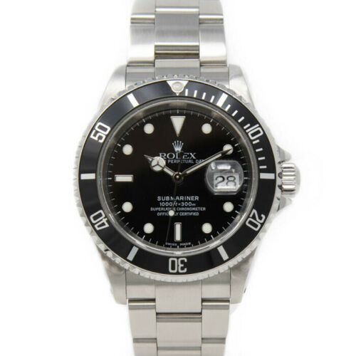 Rolex Submariner 16610 Men's Stainless Steel Automatic Black