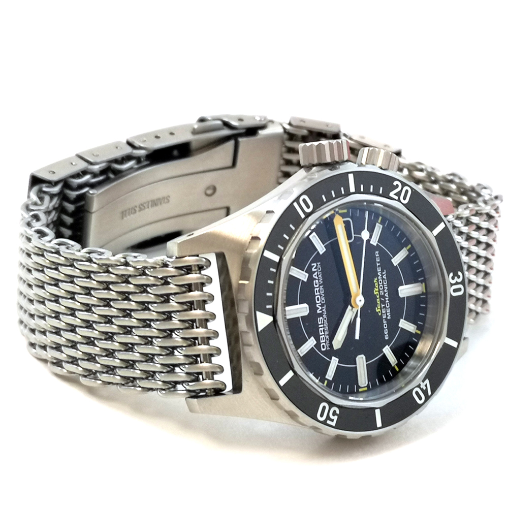 Obris Morgan Seastar 60's Automatic Diver Watch 40mm Sea Star BACKTO60S