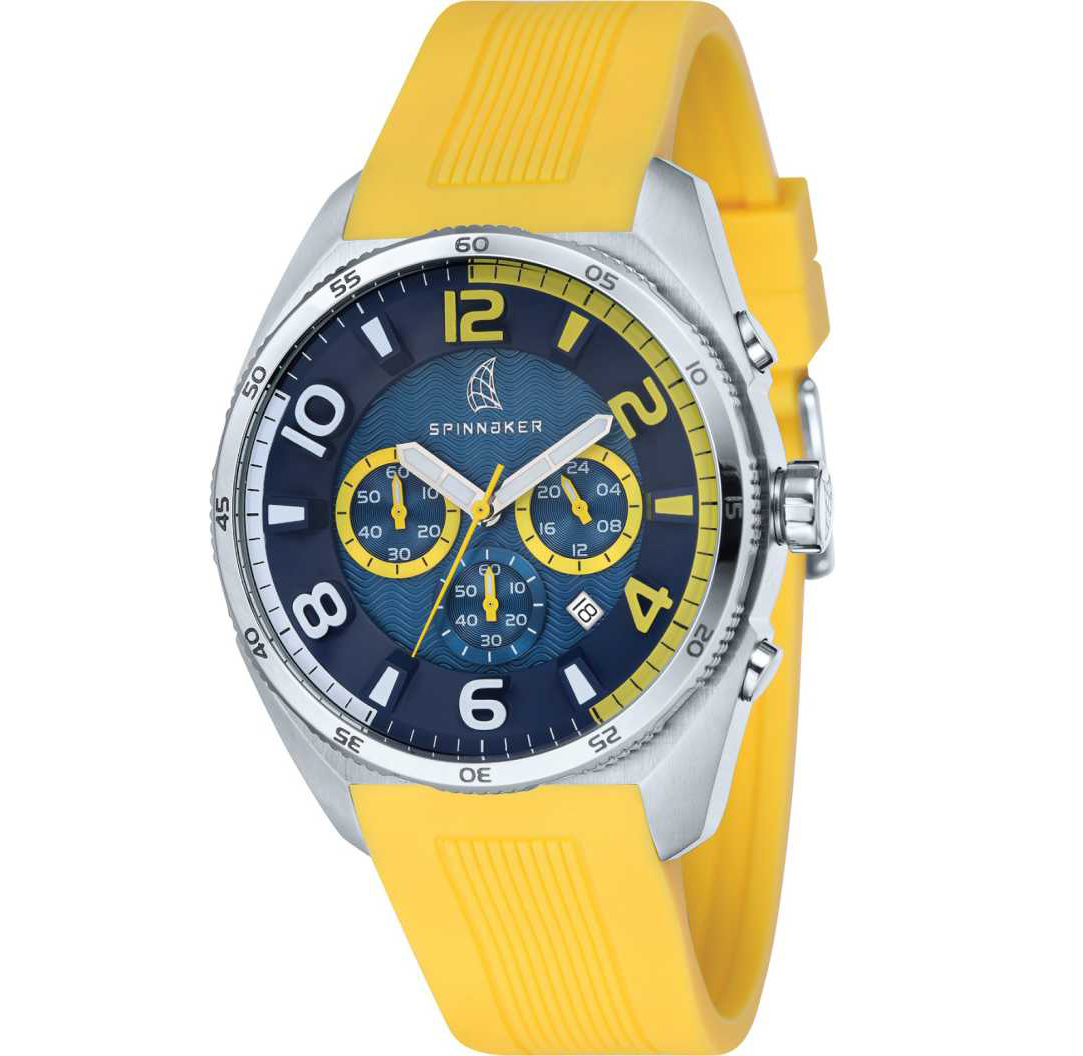 Spinnaker Amalfi Reef SP-5022-07 Men's Watch 45mm Yellow Chronograph