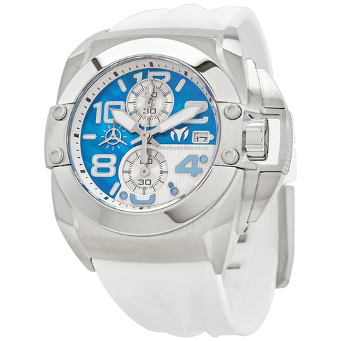 Technomarine Reef Black Chronograph Quartz Blue Dial Men's Watch TM-518008